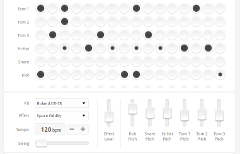 Bildquelle: Website Screenshot http://chromium.googlecode.com/svn/trunk/samples/audio/shiny-drum-machine.html